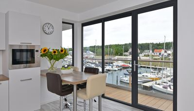 Photo for Lovely apartment with a view of the marina and farmlands
