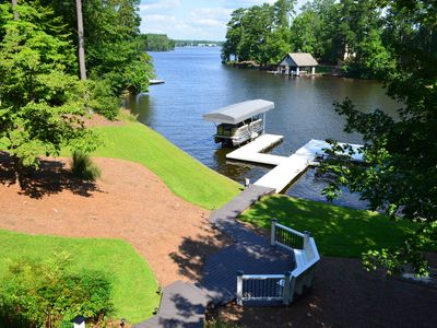 Photo for New-Reynolds Lake Oconee 3 Acre Lakefront Home With 5 Bedrooms And 5 Baths