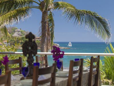 Photo for Beachfront 4 Bedroom Luxury Villa In The Center Of Sayulita