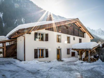 Photo for Les Iles 1776, large comfortable renovated farm in the middle of Chamonix valley