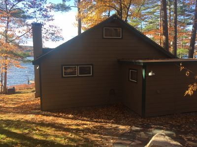 Photo for Meredith Bay lakefront cottage with private cove and 300' of lake frontage