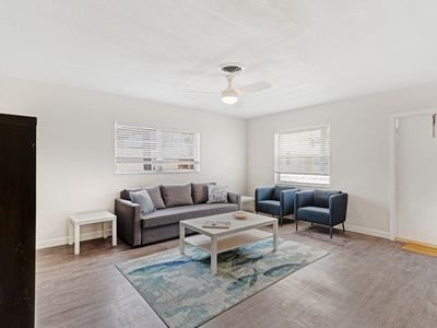 Photo for Simple, modern & comfortable condo - 1 block to the beach, great for families!