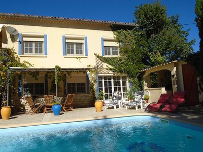 Photo for La Soleillade garden apartment with PRIVATE pool in central Provence