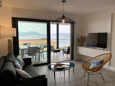 Photo for T3 nine, panoramic sea view, 50 m from a cove and 100 m from the beach of Agosta