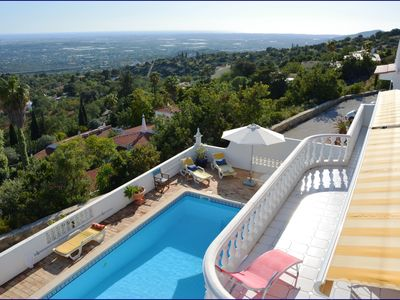 Photo for Luxurious holiday home with private pool and fantastic sea views