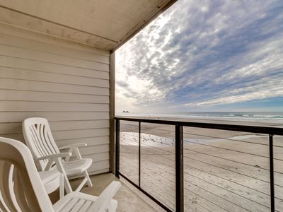 Photo for Oceanfront condo w/ a full kitchen, balcony, & sweeping sea views