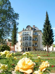 Photo for 28 sqm apartment in the house Parzival, directly on the rose garden, in Bad Elster on the 1st floor