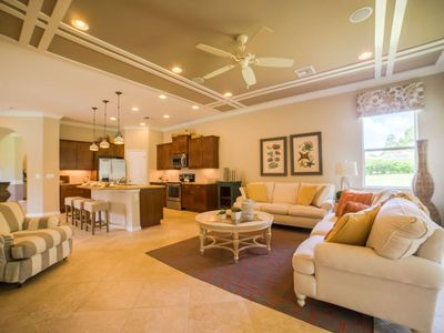 Photo for Private, 55+ Gated Community, Full Activity Center, Luxury! Free Bikes, Short Walk to Town Center.