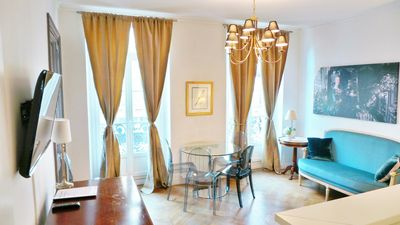 Photo for Chic and Spacious 2 bedroom Flat in Haussmannian Building, Fits 5.
