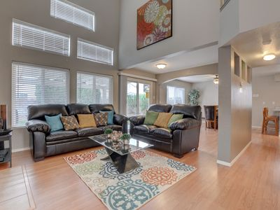 Tall Ceilings-Sunny Windows, Beautiful Upgraded Home & Private Backyard w/Spa