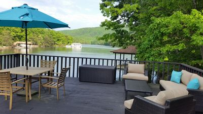 Photo for Renovated! Quiet Cove, Hot Tub, Fire Pit, Party Deck, Mountain View