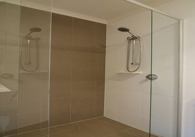 Large shower to wind down and relax.