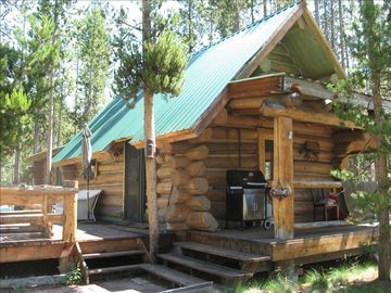 Charming Log Cabin Located on the Salmon River Near Stanley
