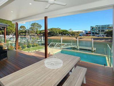 Photo for 5 Bedroom Townhouse suitable for Families Only on the Canal + Pool + Private Pontoon