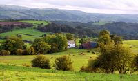 Panoramic views of the Welsh Marches, great walks, cozy cottage, everything terrific