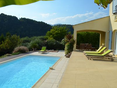 Photo for VILLA PROVENCALE with pool view St Paul and forest in closed area