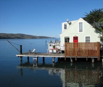 Amazing Point Reyes Cottage Sitting Directly on Tomales Bay.