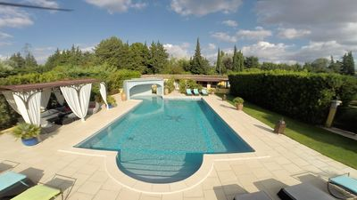 """Photo for Domaine la Chamade """"RIAD BY THE SWIMMING POOL AND JACUZZI IN AN EXOTIC GARDEN"""