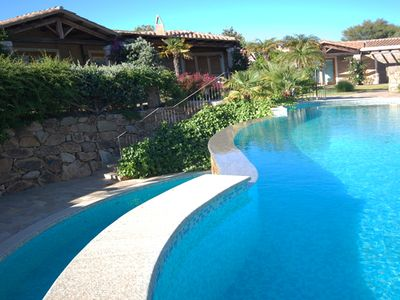 Photo for lovely villa garden and pool near the sea resort