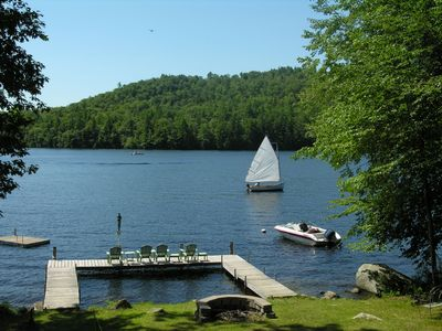 Photo for Charming Waterfront Chalet on pristine Southern Maine Lake