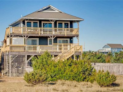 Photo for Classic Oceanfront Salvo- Boardwalk to Beach, Pool, Hot Tub, Home Theater System