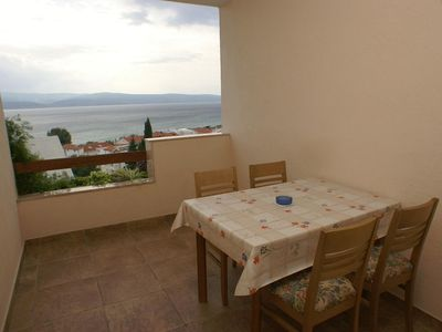 Photo for One bedroom apartment with terrace and sea view Duće, Omiš (A-2812-c)