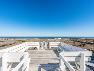 Photo for Oceanfront 5 bedroom, brand new renovation in Kure Beach!