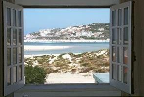 View of the beach from the main bedroom