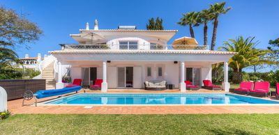 Photo for Stunning 4 Bedroom Villa With Private Heated Pool And Sea Views