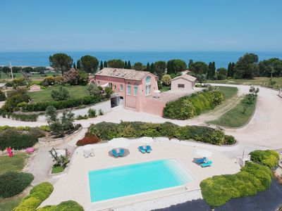 Photo for Charm and hospitality at a 500 m from the sea. Pool surrounded by greenery