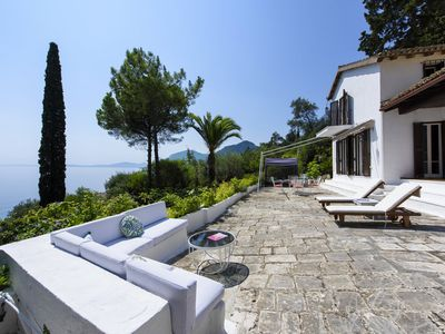 Photo for Corfu Villa with amazing sea view and private beach