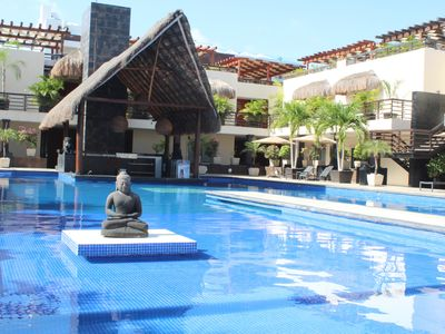 Photo for Modern apartment at Mamitas beach, Private pool!