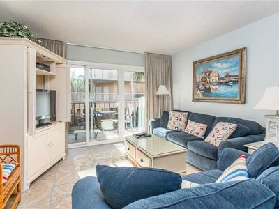 Photo for Cute Oceanfront Condominium with Great Amenities! Pool,  Fitness Center, Tennis!