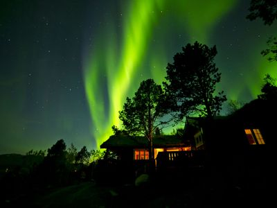 Photo for Beautiful and cozy cabin with sauna and the wonderful view in idyllic Malangen