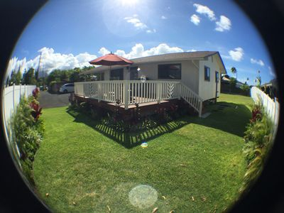 Photo for Large, private property, 1 block from world renowned Kailua Beach..