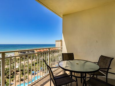 Photo for Bright & sleek condo w/shared pool, fitness center, grill area - water views!