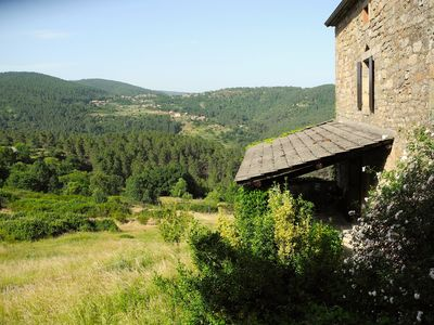 Photo for Beautiful stone farmhouse Cevennes, great views, lots of space, quiet