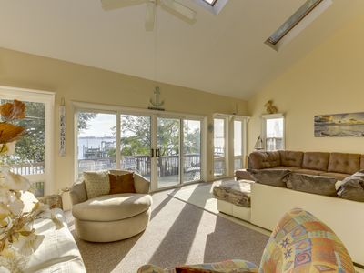 Photo for *WATERFRONT ** 25 STEPS TO BEACH * KAYAKS ** FIREPLACE **