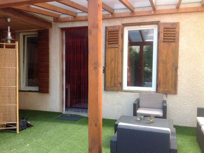 Photo for Charming T2 close to beaches and shops with nice garden