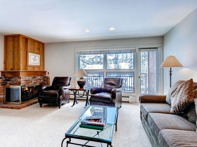 Photo for Ski-in/ski-out mountain view condo – on-site outdoor pool and hot tubs