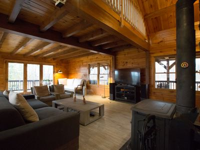 Photo for Exceptional Log House In The Heart of Catskills / Hudson Valley!