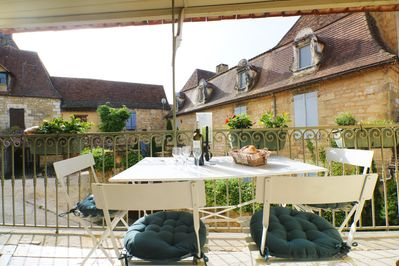 the terrace area, ideal for a glass of wine (or two!)
