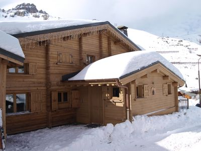 Photo for Luxury ski-in/ski-out Chalet with jacuzzi and sauna Tignes 2100m - Val d'Isère