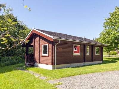 Photo for Cosy two-bedroomed timber lodge in the Argyll Forest Park