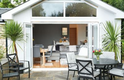 Nos Da has stunning bi-fold doors that open on to a private terrace and garden