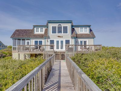 Photo for THIS LOVELY BEACH FRONT CAPE Cod style cottage welcomes you the moment you walk in.