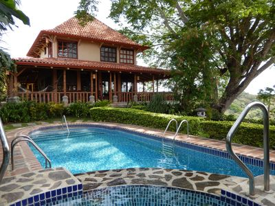 View of main house from the pool