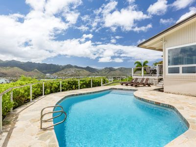 Photo for New Listing! Ocean-View Hale Maunalua Hillside Hideaway - Pool, Walk to Beach