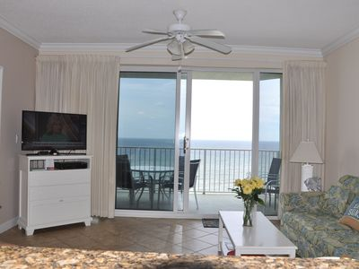 Photo for Unit 703:  5 STAR Beach Front 2-2. 180 panoramic views. Large MBR & balcony.