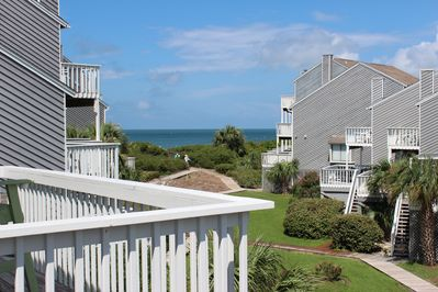 Gorgeous gulf view from master bedroom deck!